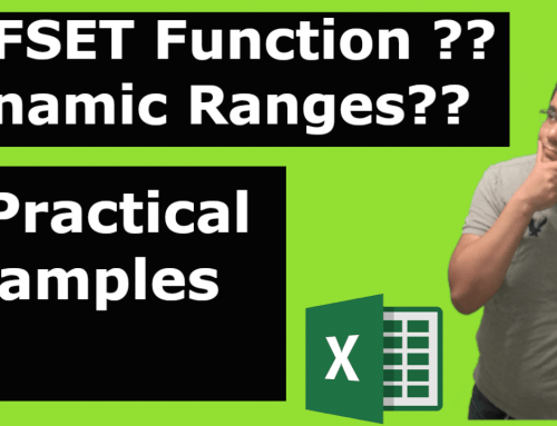 OFFSET function and Dynamic Ranges [Video]